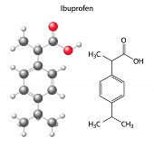 picture of ibuprofen  - Model of ibuprofen  - JPG