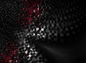 foto of gamma  - Intriguing abstract techno background with elements of metal - JPG