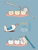 image of diagnostic medical tool  - Comics about dental diagnostics and treatment - JPG