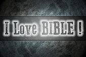 pic of adam eve  - I Love Bible Concept text on background - JPG