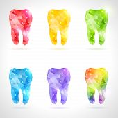 foto of gold tooth  - Rainbow tooth - JPG