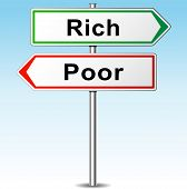 picture of prosperity sign  - illustration of rich and poor directions sign - JPG