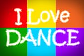 pic of lap dancing  - I Love Dance Concept text on background - JPG