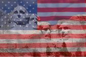 stock photo of south american flag  - Mount Rushmore National Memorial in South Dakota features sculptures of former U - JPG