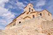 stock photo of senora  - Church of Nuestra senora del Rivero in San Esteban de Gormaz Soria Spain - JPG
