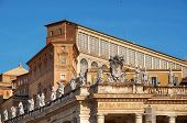 stock photo of apostolic  - Detail of The Apostolic Palace  - JPG