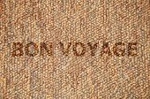picture of bon voyage  - Wooden Background - JPG