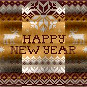 picture of scandinavian  - Vector Illustration of Happy New Year - JPG