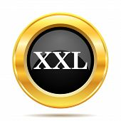 stock photo of xxl  - XXL icon - JPG
