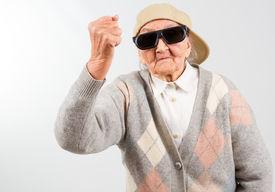 stock photo of grandma  - Funny grandma - JPG
