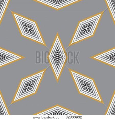 Seamless Geometric Pattern With A Few Diamonds