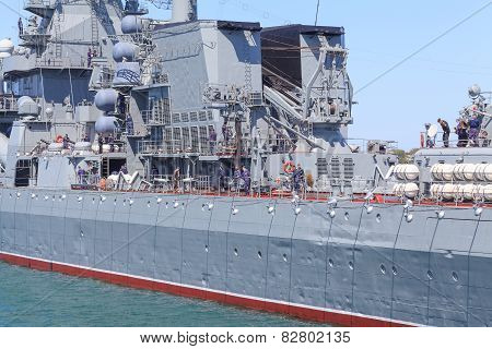 Russian Navy Black Sea Fleet prepares for a Victory Day parade