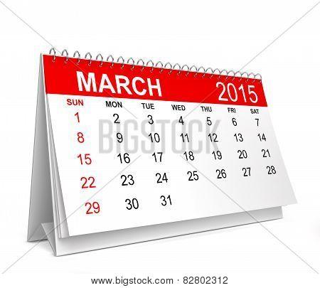 2015 Calendar. March