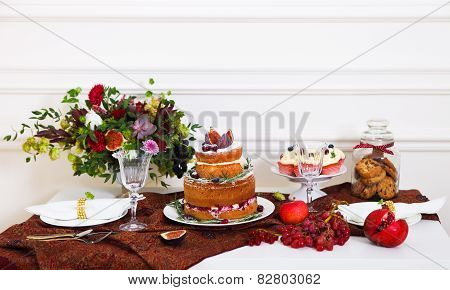 Dessert Table Serviced For A Wedding