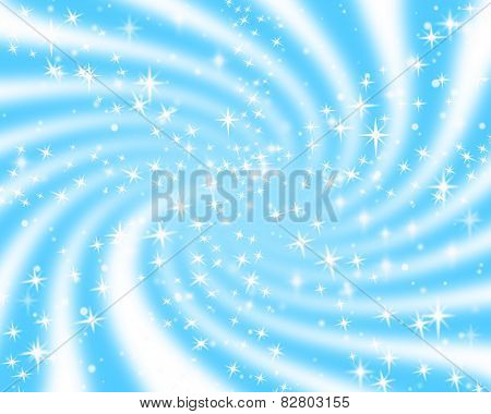 Stars And Snowflakes Falling Out From Spiral