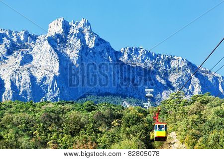 Ropeway On Ai-petri. Ai-petri - The Mountain In The Crimean Mountains As A Part Of The Massif Ai-pet