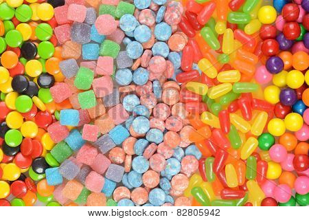 assorted candy in a row