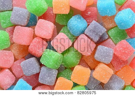 sour sugar chewy candy background
