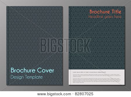 Brochure cover minnimalistic design templates