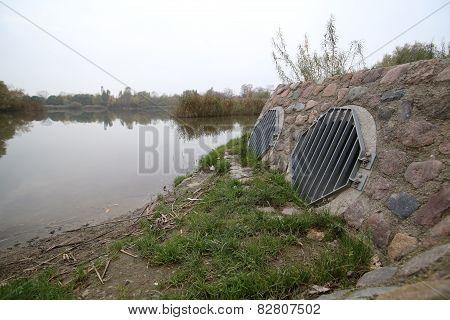 Pipes In Lake