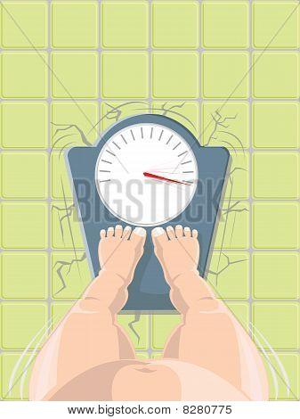 Vektor-Illustration von Übergewicht Konzept