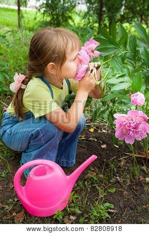 Little Girl Helping In The Spring Work, Gardening
