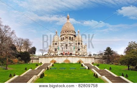 Basilica Of Sacre-coeur In Montmartre, Paris