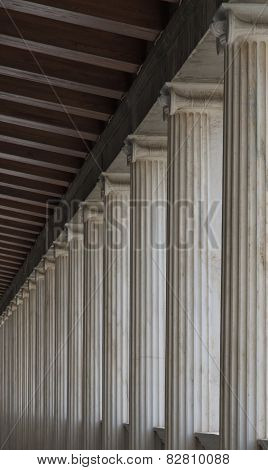 Colonnade upstairs in the ancient agora