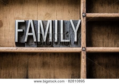 Family Letterpress Type In Drawer