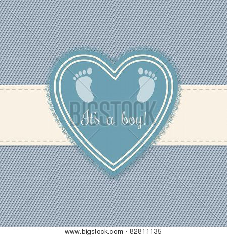 Baby Shower Greeting Card For Boys