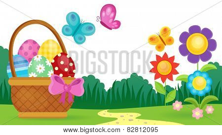Easter eggs thematic image 3 - eps10 vector illustration.