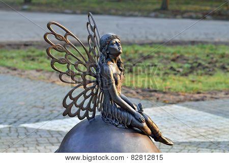 Sculpture Forest Fairy. Kaliningrad, Russia