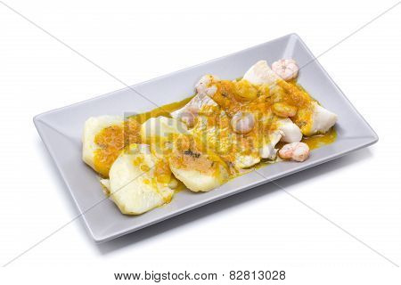 Hake With Shrimp
