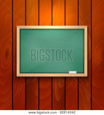 Chalkboard On Wood Background