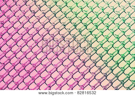 Pink To Green Colors In Ice Diamond Patterns
