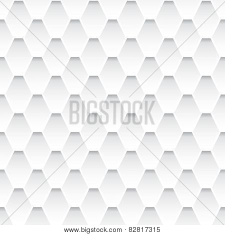White seamless rhombus pattern