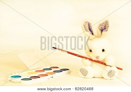 Easter Rabbit With Paint
