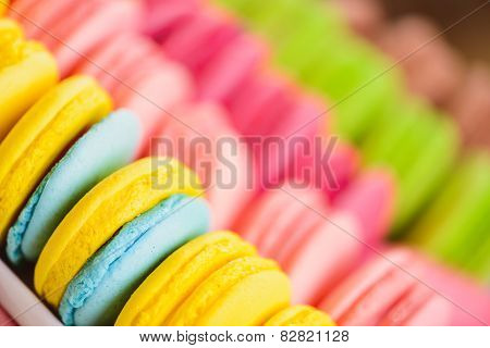 Delicious sweets in a row