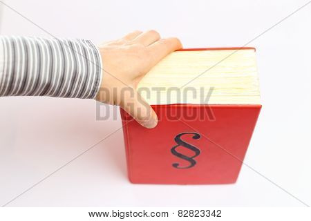 Hand And Red Book