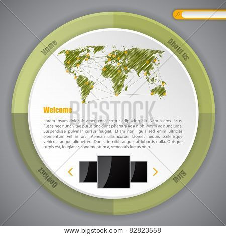 Cool Circle Webpage Template Design