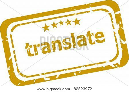 Translate Stamp Isolated On White Background