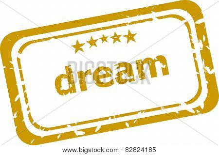 Dream Stamp Isolated On White Background