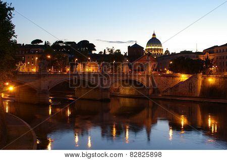 Dusk on River Tiber
