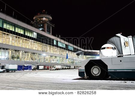 Moscow, Russia, February, 09,2015: terminal of Domodedovo airport