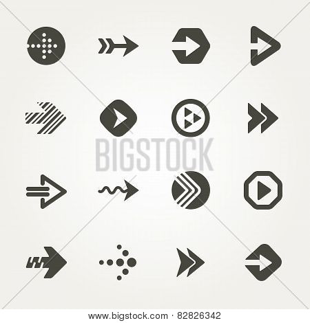 Vector Arrow Signs. Icon Set