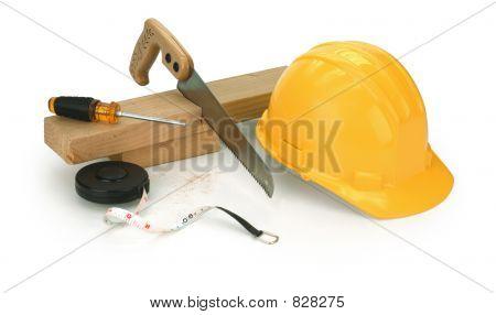 carpentry on white