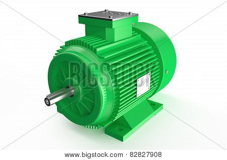 Industrial Green Electric Motor