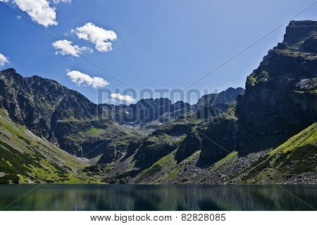 The View From The Trail On Black Pond And High Tatras