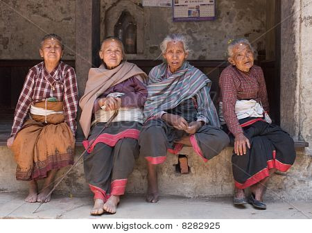 Four Old Nepalese Woman