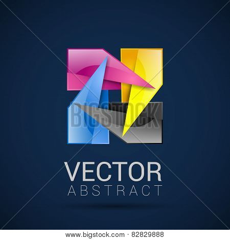 Vector business template with CMYK logo